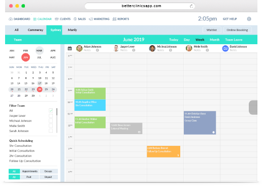 Online Apppointment Scheduling Software | Better Clinics