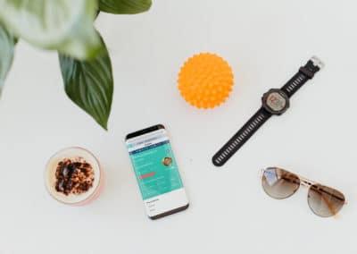 Better Clinics mobile dashboard
